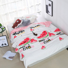 2018 New Fashion High Quality Cartoon Summer Comforter Quilt Bedspread Throws Blanket Twin/Queen King Quilting Blankets Plaids