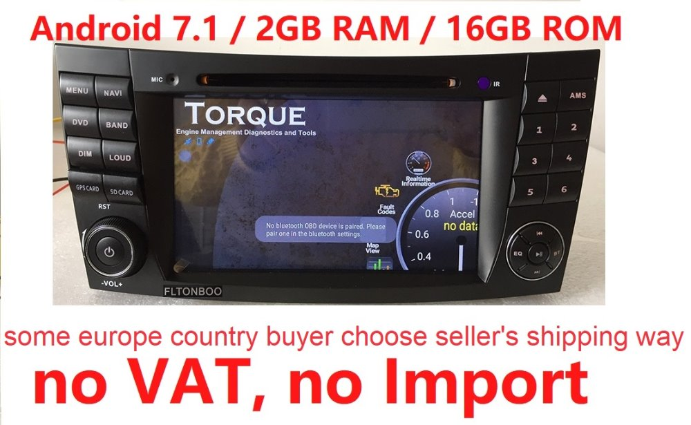 7 Android 7.1 for BENZ w211 2din car dvd,gps navigation,wifi,radio,bluetooth,Steering wheel Canbus,free 8g map mic,touch screen