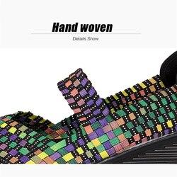 TKN 2019 Summer Women Platform Sandals Shoes Women Woven elastic Shoes Wedge Sandals multi colors cover shoes footwear Women 889 3