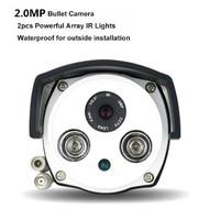Aluminum Metal Waterproof Outdoor Bullet AHDCamera 720P 1080P 3MP Security Camera CCTV 2PCS ARRAY LED Board HD Camera