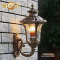 Bronze aluminum outdoor wall mounted light fixture E27 balcony garden gazebo lamp landscape lamp 100-240v