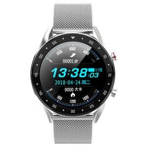 Image 3 - Microwear L7 スマートウォッチフィットネスブレスレットIP68 防水トラッカー腕時計ecg心拍数モニターコールリマインダスマートウォッチの男性