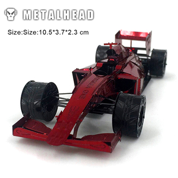 цена на 3D Metal Puzzles for Red F1 Kids Adult Assembly Model Kits Toys Jigsaw DIY New Year Gift Educational Desktop Display Toy