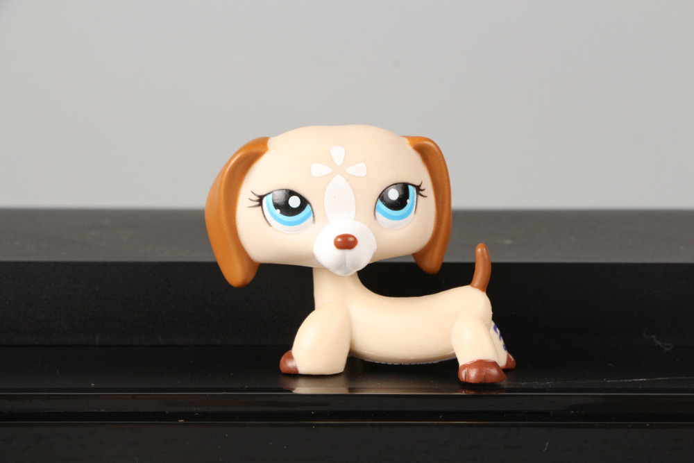 Lovely Pet Collection LPS Figure Toy LPS Dachshund Dog Puppy 1491 Brown Tan Mocha White Nice