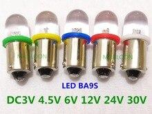 5 個 BA9S led インジケータ電球ナンバープレート電球 24v ba9s 3v led ba9s 6 楽器電球 4.5v 12v ba9s 30v