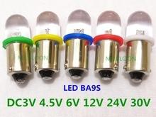5 Pcs BA9S Led Indicator Lamp Nummerplaat Lamp 24 V Ba9s 3 V Led Ba9s 6 V Instrument Lamp 4.5 V 12 V Ba9s 30 V