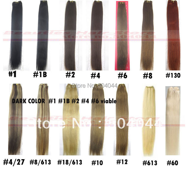 "16"" 18"" 20"" 22"" 24"" 26"" 28"" 30"" 32""silky soft indian remy Human Hair weft weaving deep color #1 #1b #2 #4 #6 100g/pcs"