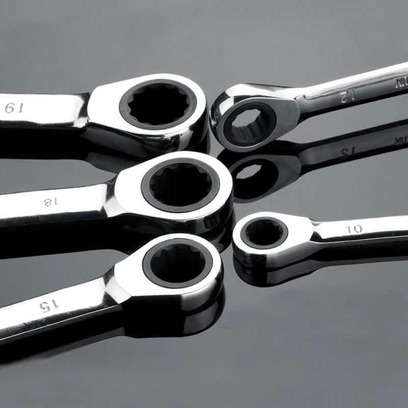 1 kawałek Zestaw kluczy grzechotkowych Cr-V Dwustronne 72 zęby 6-27 - Narzędzia ręczne - Zdjęcie 4