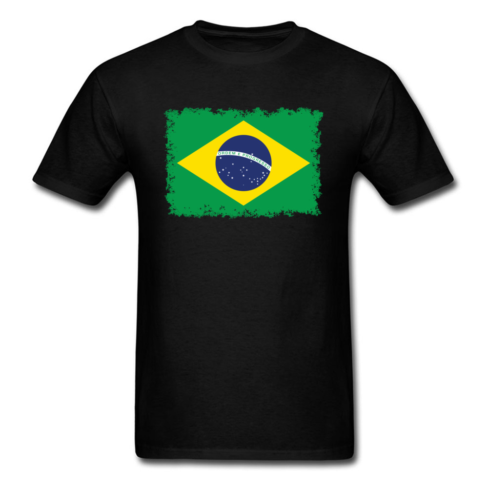 Brazilian flag Summer/Autumn 100% Cotton Round Neck Tees Short Sleeve Casual Sweatshirts Oversized Summer Top T-shirts