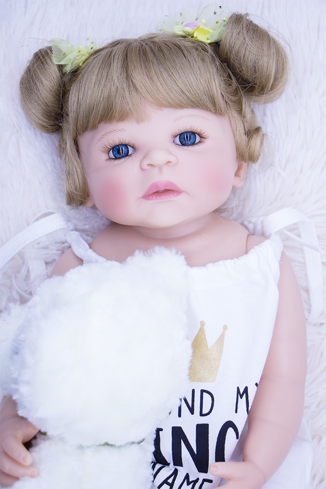 55cm Full silicone reborn babies dolls Real touch bathe toys Lifelike menina collectible doll Realistic birthday gift brinquedos55cm Full silicone reborn babies dolls Real touch bathe toys Lifelike menina collectible doll Realistic birthday gift brinquedos
