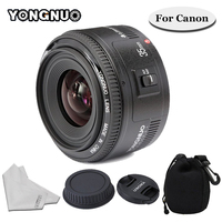 YONGNUO 35mm F/2 Lens YN35mm Wide angle Large Aperture Fixed Auto Focus Lens For Canon 6d 60d 5d mark iii 550d 1100d 650 Camera