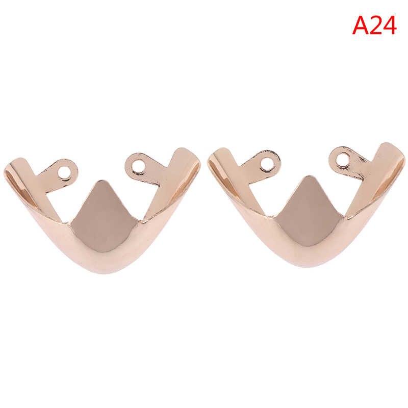 1 çift Metal Moda Malzeme Ayakkabı Klipleri Dekorasyon Ayakkabı Ayak Koruma Yüksek Topuklu Ayakkabı Kırık Tamir Aksesuarları