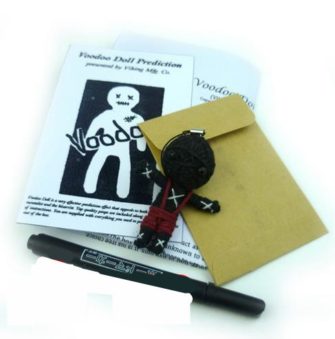 Free shipping voodoo doll prediction,close-up stage TV-show professional mentalism magic trick product toy / wholesale