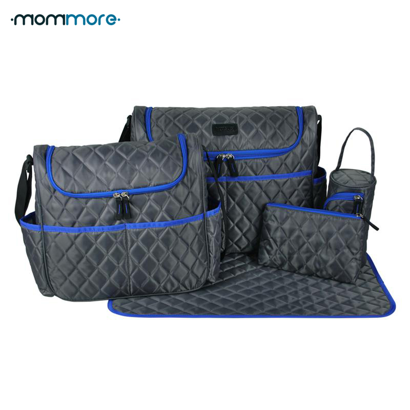 MOMMORE 5 Pcs/Set Multifunctional Bolsa Maternidade Baby Diaper Bags Nappy Bags Mummy Maternity Bag Lady Handbag Messenger Bag 4pcs cd 80t load bearing 500kg pcs level adjustment nylon wheel and triangular plate leveling caster industrial casters jf1563