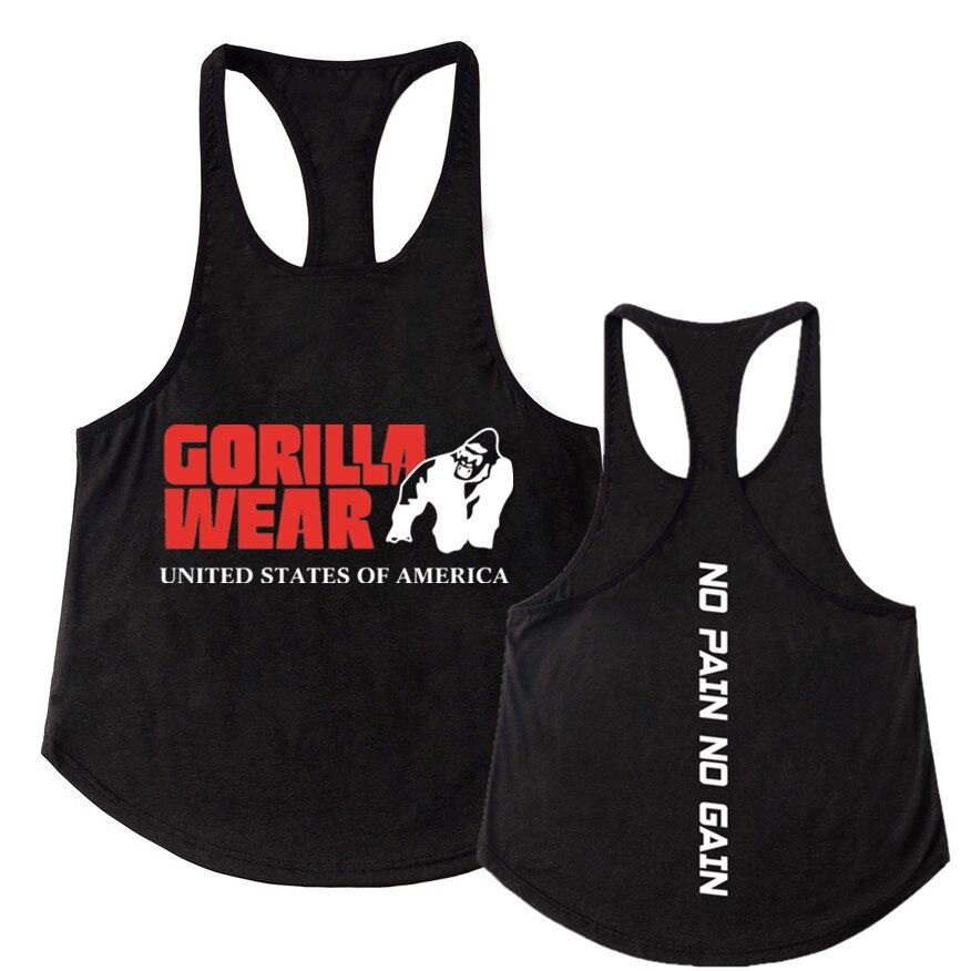 AUTAS Mens Gym Muscle Sleeveless Stringer Tank Top Tee Shirt Bodybuilding Sport Vest Cotton Star Workout Tops