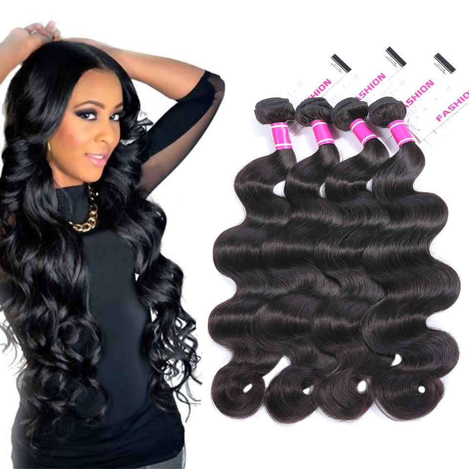 detail feedback questions about 4 bundles body wave hair