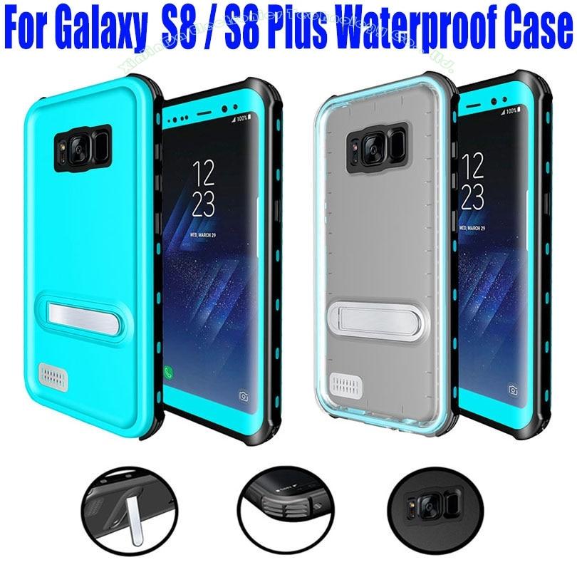 imágenes para Para Samsung Galaxy S8 Más Caso Original RedPepper Dot Serie IP68 Impermeable de Buceo Bajo El Agua caja de la PC + TPU Armor Cubierta S808