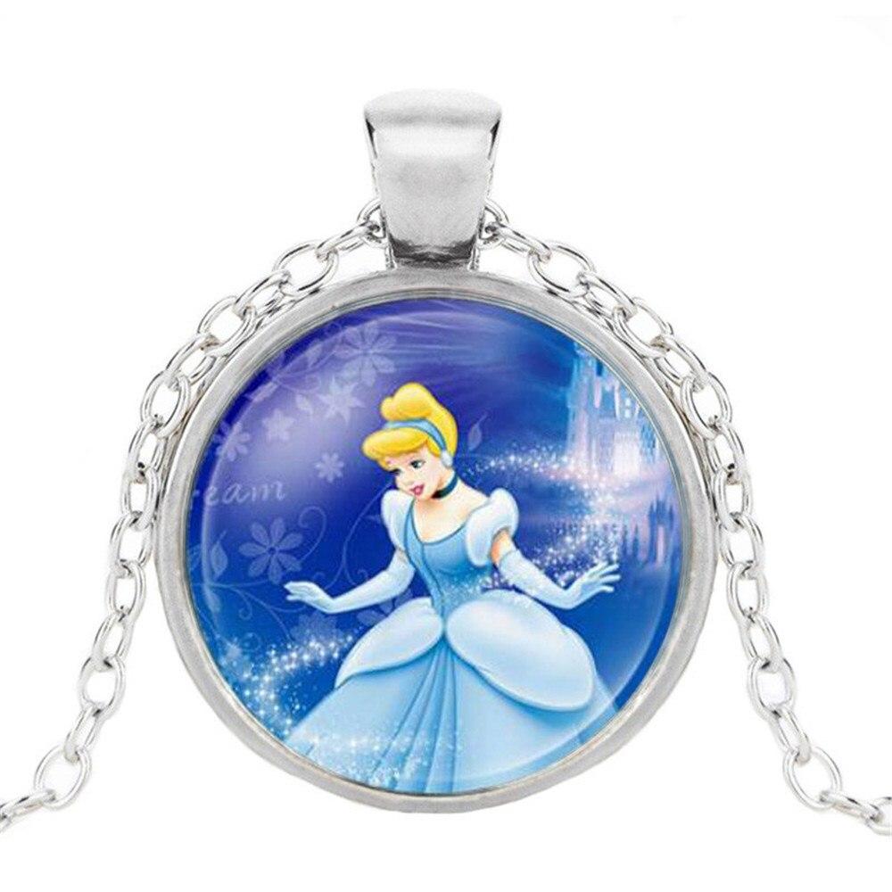 Новая мода популярное женское ожерелье Кристалл ювелирные изделия выпуклая круглая Принцесса Подвеска Ожерелье Девушка - Окраска металла: 13