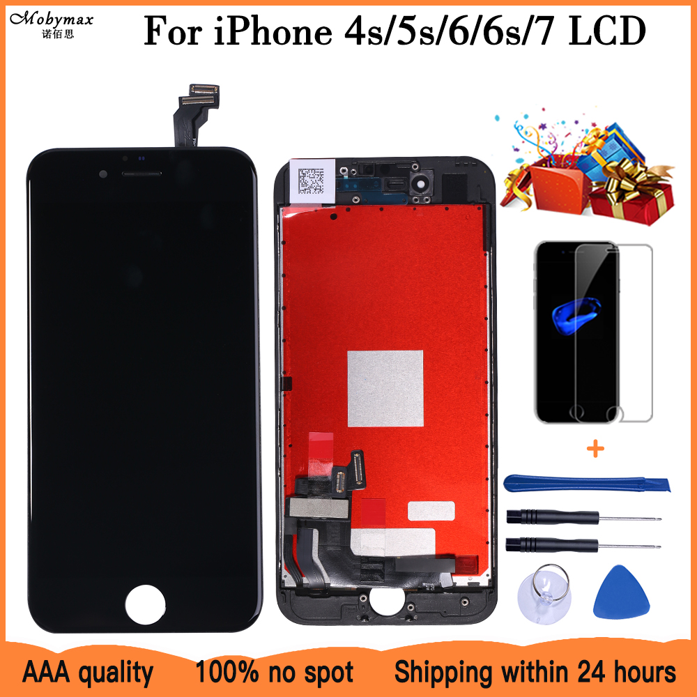 AAA LCD Display For iPhone 4s 5S 6 6S 7 Module Touch Screen Glass Digitizer Replacement For iphone 7 Repair LCD Screen Assembly-in Mobile Phone LCD Screens from Cellphones & Telecommunications