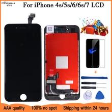 AAA شاشة الكريستال السائل ل iphone 4s 5S 6 6S 7 وحدة اللمس زجاج الشاشة قطع غيار محول رقمي ل iphone 8 إصلاح LCD الجمعية الشاشة