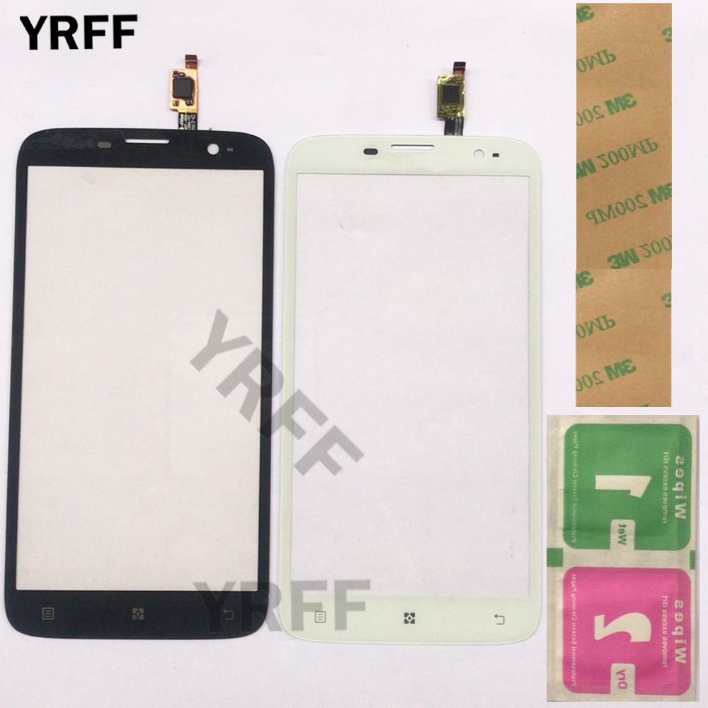 5.5'' Mobile Touch Screen For Lenovo A850 Touch Screen Digitizer TouchScreen Front Glass Lens Sensor Panel Phone 3M Glue Wipes