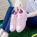 2017 кроссовки женские кеды женские обувь женская туфли женские женская обувь Новое Прибытие Женщины Бездельников Повседневная Обувь Каблуки Белый Розовый Ботинки Loafer Комфорт Женская Обувь sapato feminino