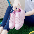2017 New Arrival Women Loafers Casual Shoes Heels White Pink Loafer Shoes Comfort Women Shoes sapato feminino sneakers women