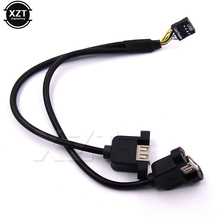 xingzhaotong 30cm Motherboard Internal 9pin Pitch 2.54mm Dual Port USB 2.0 Cable