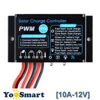 Contrôleur de Charge solaire PWM 10A 12V étanche IP68 contrôleur de Charge de batterie de panneau solaire utilisation extérieure pour le système solaire PV