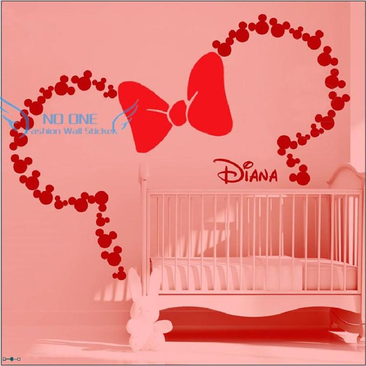 DIY Mickey Maus Inspiriert ohren mit Bogen & PERSONALISIERTE BABY ...
