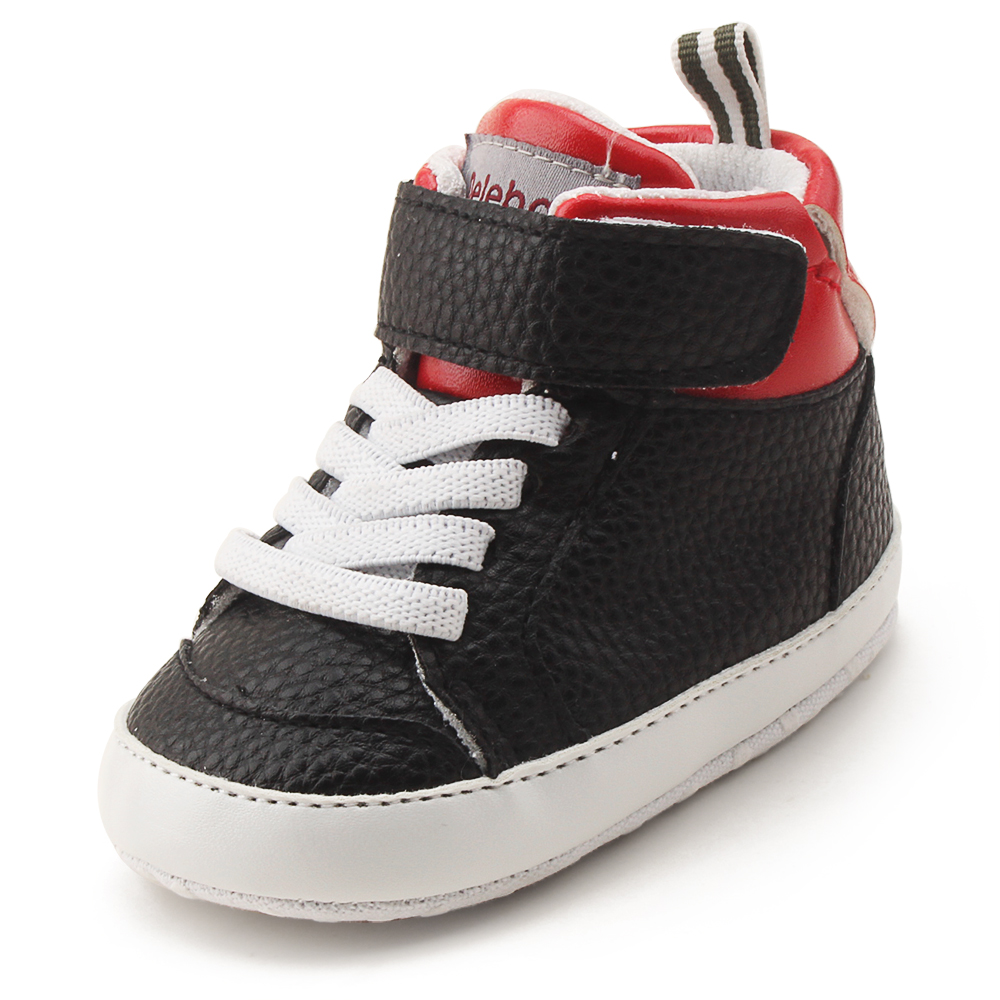 Delebao Leather Baby Shoes Cotton Soft Sole Indoor Toddler Baby Boy Shoes Spring/Autumn Infant First Walkers