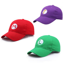 Anime Super Mario Caps Luigi Bros Hats Baseball Cap Cosplay Costume Accessories Gifts Wholesale