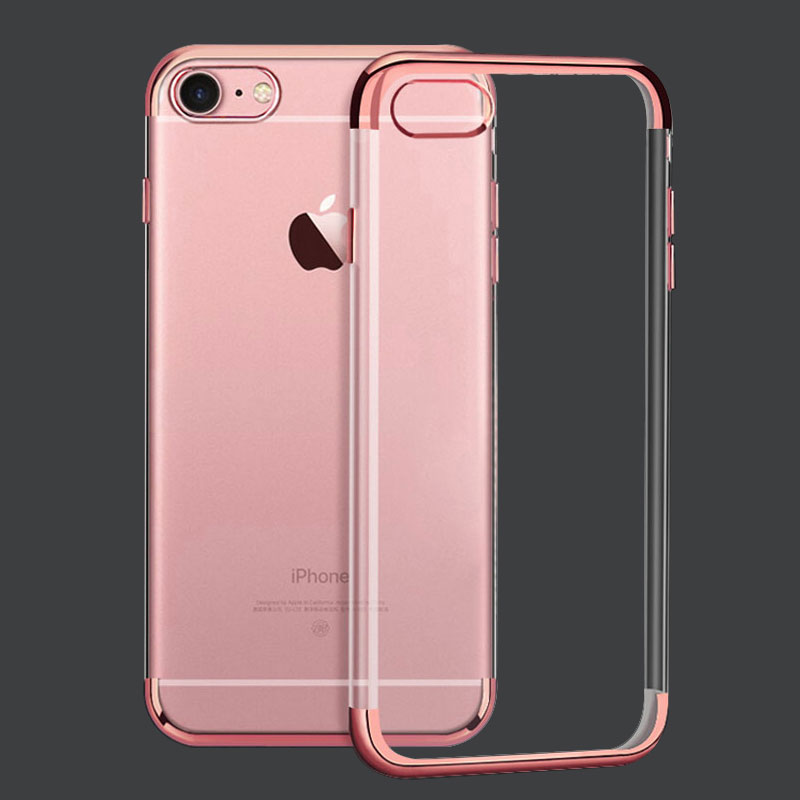 Fashion Gold plated phone case For Apple iPhone 6s Case Series Transparent Soft TPU For iPhone 6