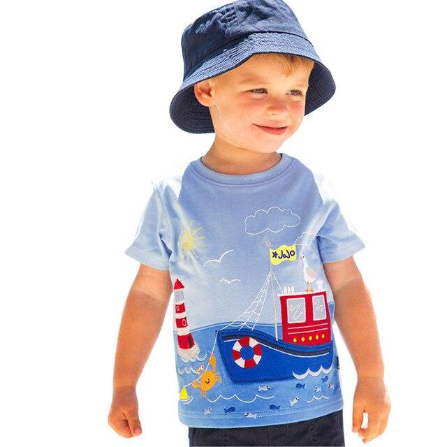 TELOTUNY bebê menino de verão T-shirt curto Camisetas para os meninos roupas de bebê de algodão macio crianças t-shirt m-6 18 t dos desenhos animados Listrados Z0829