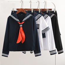 UPHYD Лидер продаж Аниме Школьная форма Косплей Японская Школьница морской моряк школьная форма с красным шарфом JK Униформа LYX0701