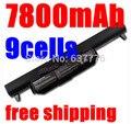 7800 MAH 9 células Bateria Do Portátil para ASUS K45 K45V K45D K55 K55A K55D K55V K75 R400 R500 R700 U57 X45 X55 X75 A41-K55 A33-K55