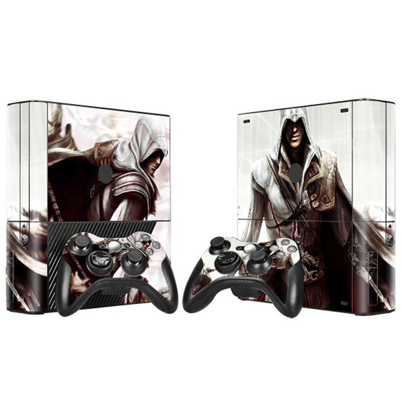 Waterproof vinyl decal for xbox 360 E vinyl skin sticker wrap for xbox 360 E full body protactive