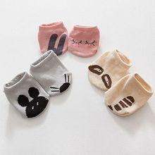 Fashion Newborn Cute Baby Kids Floor Cotton Socks Asymmetric Animal Rabbit Rat Bear High Quality Cartoon Anti-slip Short Socks недорого