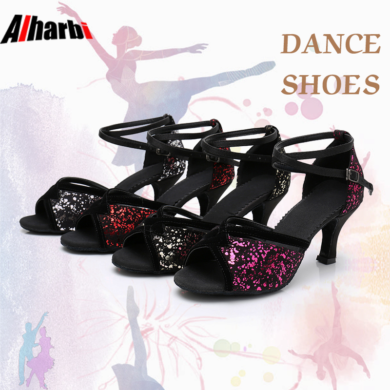 Alharbi Dance Shoes Tango Latin Dance Shoes For Girls Women Ladies 504