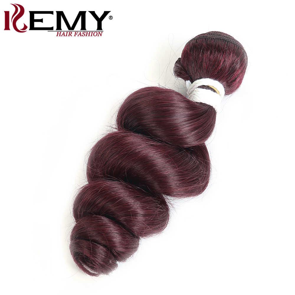 99J/Burgundy бразильские распущенные волосы волна переплетения пучки kemy Hair 1/2/3/4 шт предложения Связки non-реми Пряди человеческих волос для наращивания