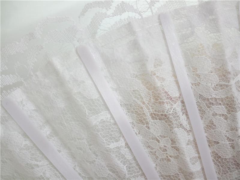 50pcs Bele čipke Poročni navijač favorit, Dame Hand Fan, Čipke s - Prazniki in zabave - Fotografija 2