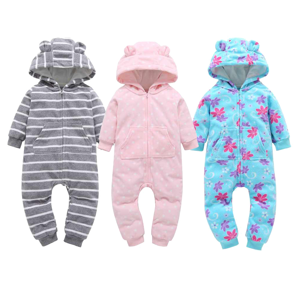 2019 New Born baby Clothes Winter Atutumn Warm boys Girls tracksuit newborn baby long sleeved rompers girls cotton jumpsuit