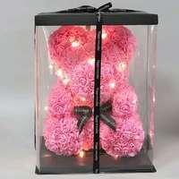 Valentine's Day Gift for Her/him 40cm Rose Bear Rabbit Stuffed Animals Present for Girlfriend Birthday Bouquet Best Gift Idea