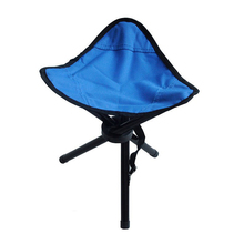3 legs Outdoor Camping HikingTripod Folding Stool Chair Foldable Picnic Fishing Triangle Tripod Seat Ultralight Fold Chair