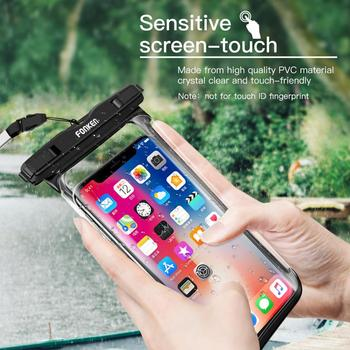 FONKEN Full View Waterproof Case for Phone Underwater Snow Rainforest Transparent Dry Bag Swimming Pouch Big Mobile Phone Covers 1