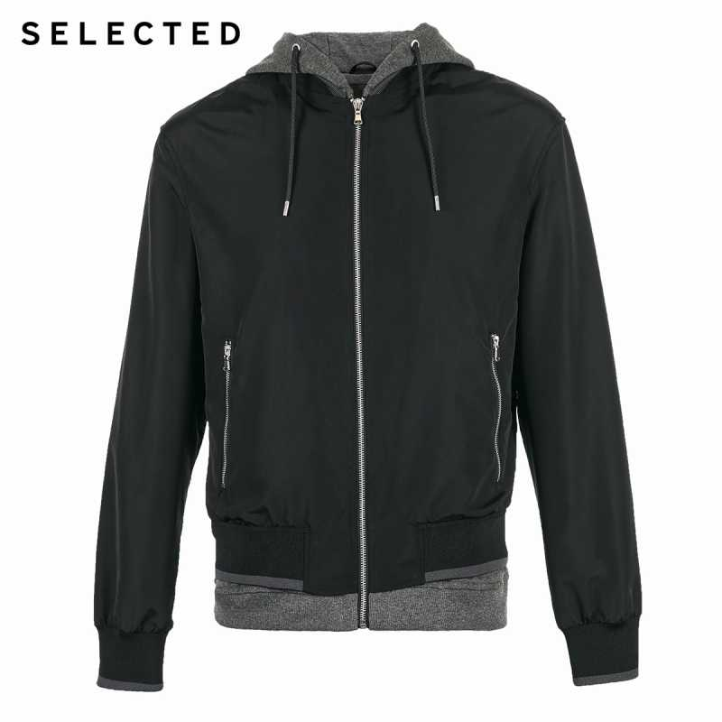 SELECTED New Men's Hooded Outwear Embroidery Splice Fashion Casual Jacket Autumn & Spring Coat C | 4191OM528