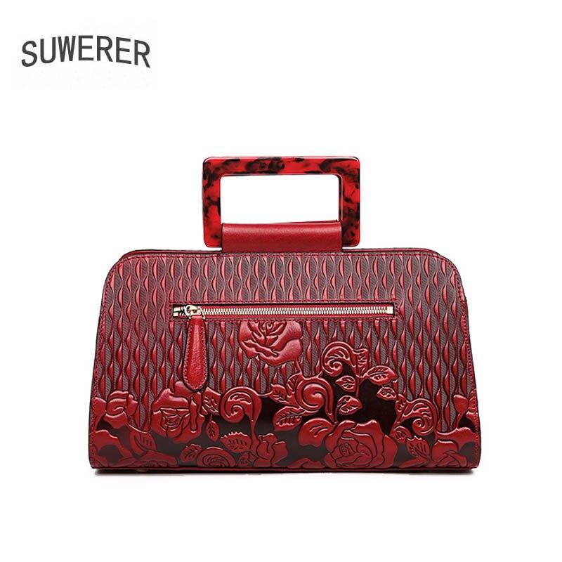 Reinem Tasche Damen brown Luxus black Marke 2019 Handtaschen Echtes Umhängetasche Neue Geprägt purple Schulter green Leder Red 6I4wzqY