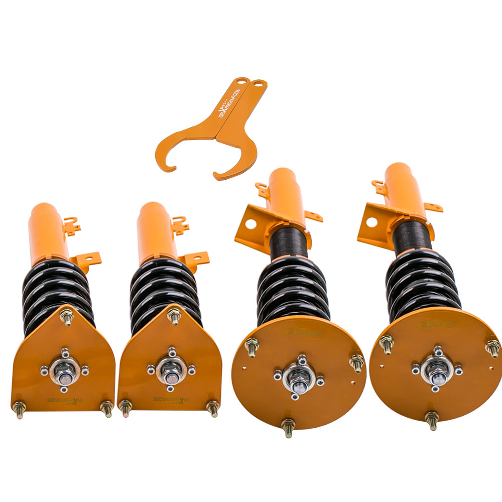 4pcs Front+Rear Left+Right Complete Strut Shock Coil Over Spring for Ford Taurus 1996 2007 Coilover Suspensions