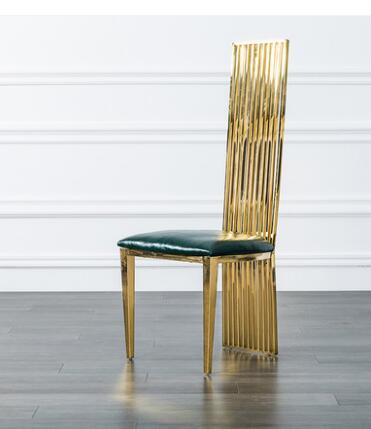 Leather Dining Chair Postmodern Simple Northern European High-end Family Restaurant Bar Chair Leisure Fashion Orange Chair.