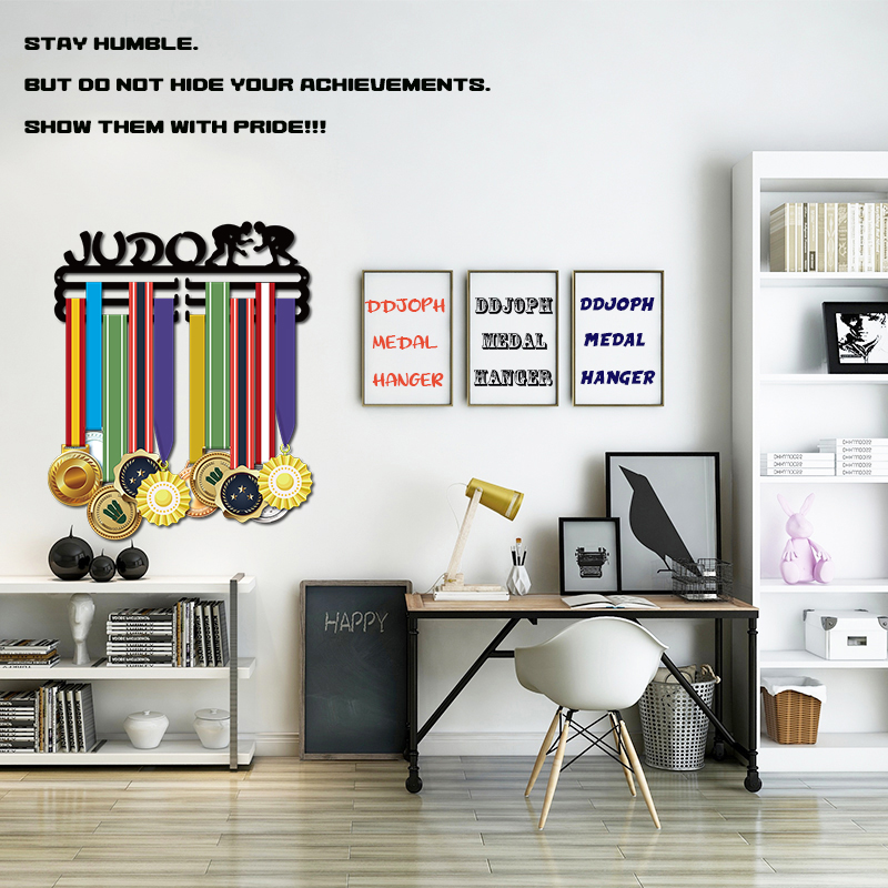 Image 2 - DDJOPH medal hanger for JUDO Sport medal hanger JUDO medal holder Medal display rack-in Storage Holders & Racks from Home & Garden